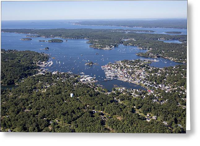 Maine Landscape Greeting Cards - Boothbay Harbor, Maine Me Greeting Card by Dave Cleaveland
