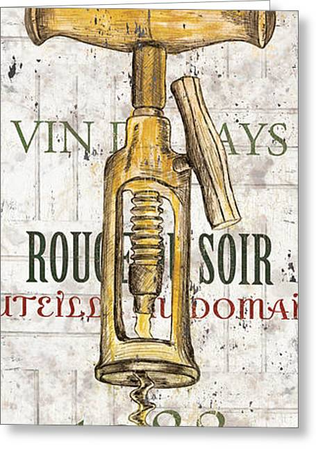 Winery Greeting Cards - Bordeaux Blanc 1 Greeting Card by Debbie DeWitt