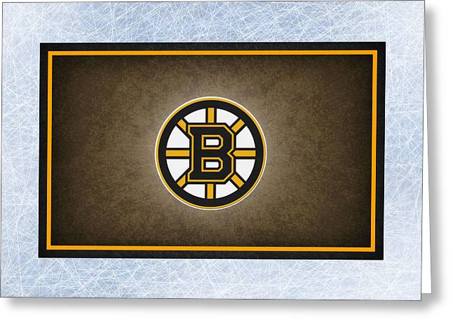 Skates Greeting Cards - Boston Bruins Greeting Card by Joe Hamilton