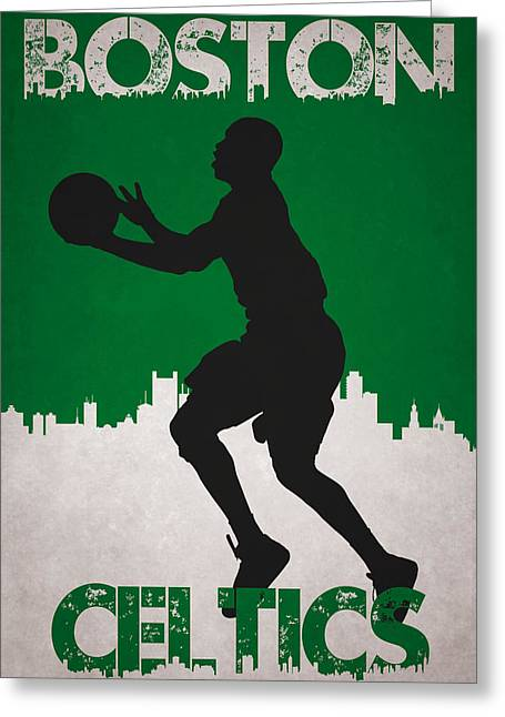 Division Greeting Cards - Boston Celtics Greeting Card by Joe Hamilton
