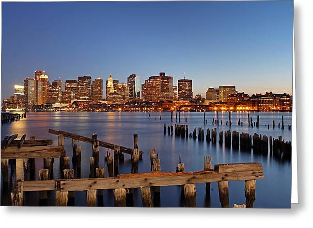 Custom House Tower Greeting Cards - Boston Greeting Card by Juergen Roth