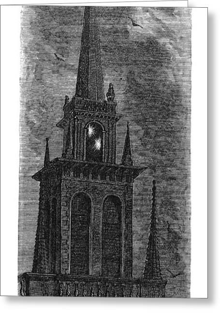 Old North Church Greeting Cards - Boston: Old North Church Greeting Card by Granger