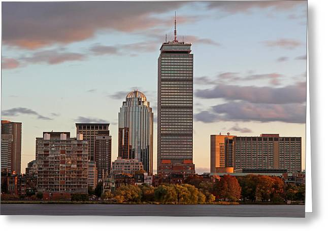 Huntington Hotel Greeting Cards - Boston Skyline Greeting Card by Juergen Roth