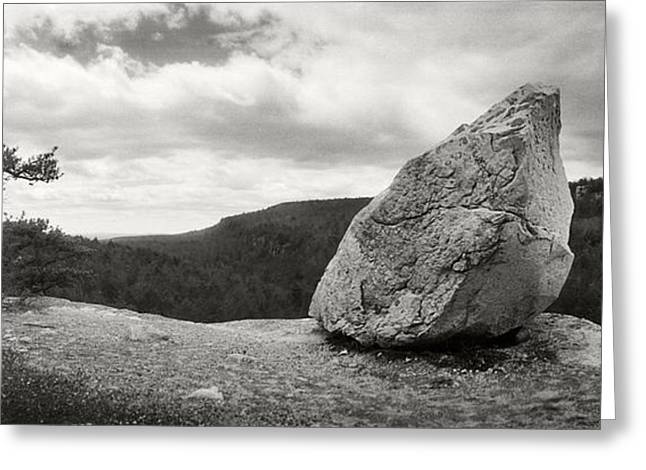 State Park; Mountains Greeting Cards - Boulder Along The Gertrudes Nose Greeting Card by Panoramic Images