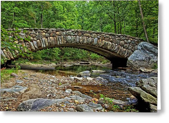 Boulder - Rock Greeting Cards - Boulder Bridge in Rock Creek Park Greeting Card by Mountain Dreams