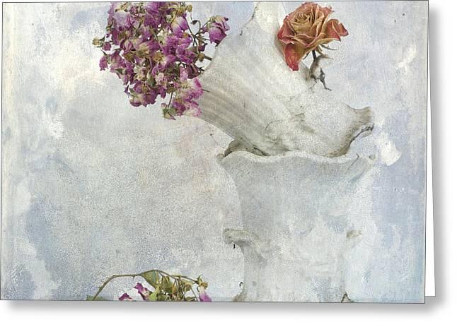 Bouquet Greeting Card by Bernard Jaubert