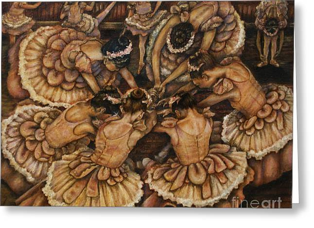 Little Girl Greeting Cards - Bouquet of Ballet    Greeting Card by Linda Simon
