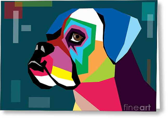 Funny Dog Digital Greeting Cards - Boxer  Greeting Card by Mark Ashkenazi