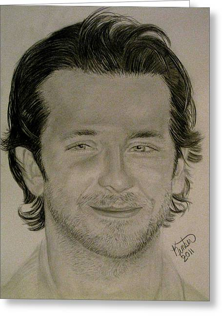 Hot Male Drawings Greeting Cards - Bradley Cooper Greeting Card by Kimber  Butler