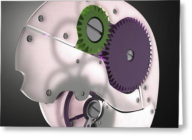 Mechanism Photographs Greeting Cards - Brain Mechanism Greeting Card by Science Picture Co