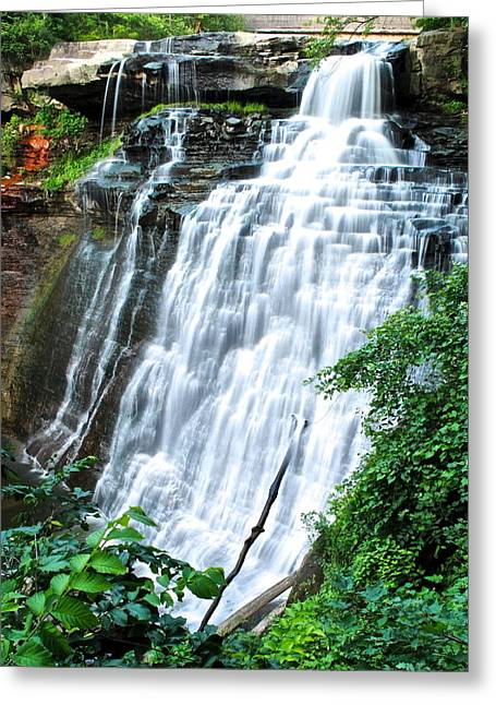 Forceful Greeting Cards - Brandywine Falls Greeting Card by Frozen in Time Fine Art Photography