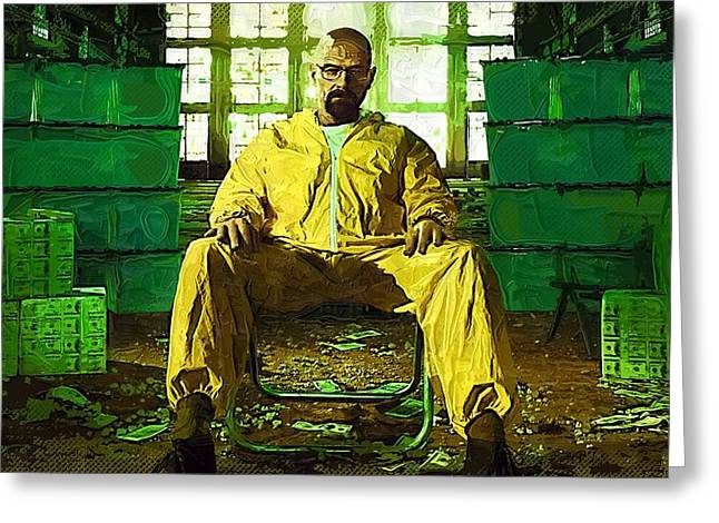 Bad News Greeting Cards - Breaking Bad Prints Greeting Card by Victor Gladkiy