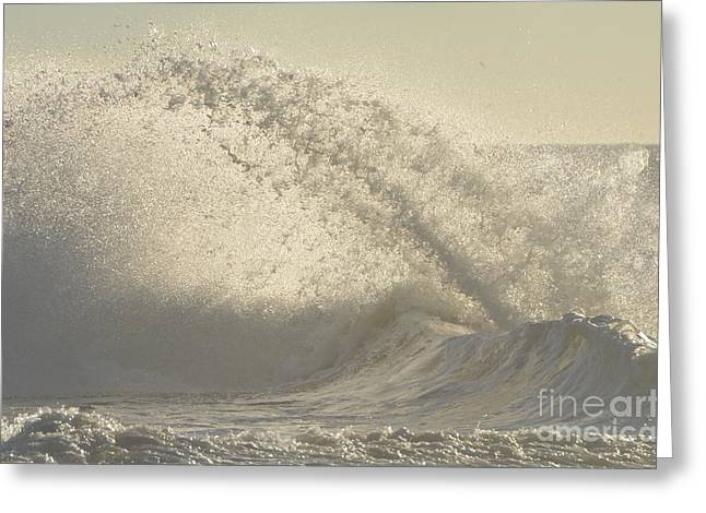 Clean Water Greeting Cards - Breaking Waves Greeting Card by Anahi DeCanio