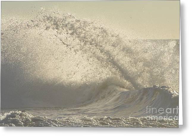 Best Ocean Photography Digital Greeting Cards - Breaking Ocean Waves Greeting Card by Anahi DeCanio - ArtyZen Studios