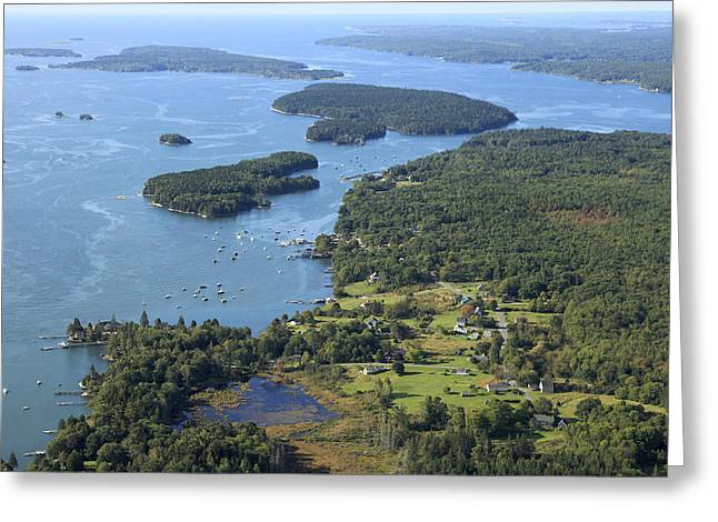 New England Village Greeting Cards - Bremen, Maine Greeting Card by Dave Cleaveland