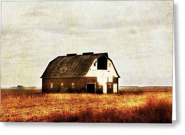 Barn Door Digital Greeting Cards - Brick Barn Greeting Card by Julie Hamilton