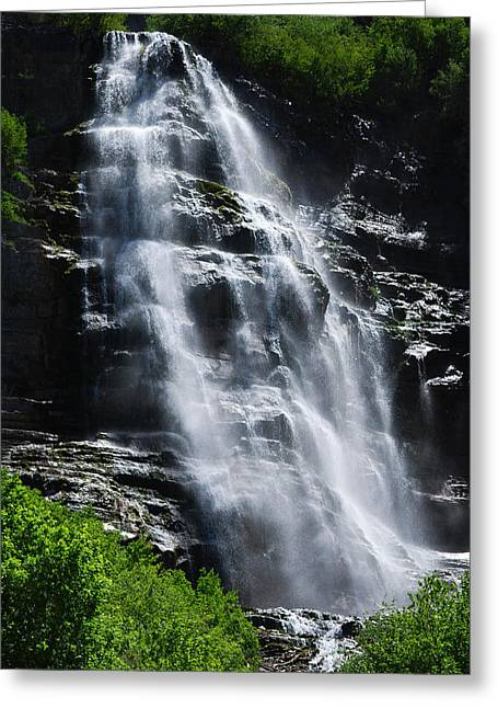 Becky Greeting Cards - #youcannothearthewaterfall Greeting Card by Becky Furgason