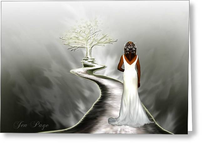 Pages Of Life Digital Art Greeting Cards - Bride of Christ  Greeting Card by Jennifer Page