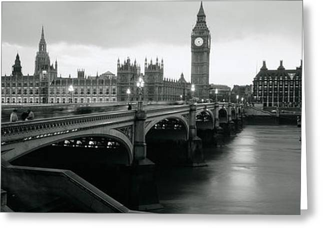 White River Scene Greeting Cards - Bridge Across A River, Westminster Greeting Card by Panoramic Images