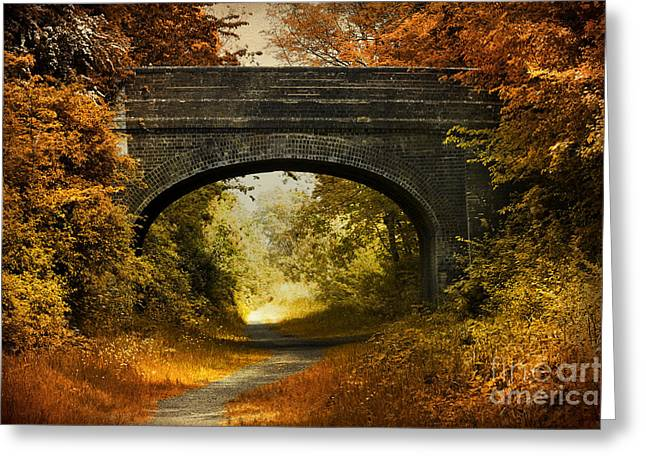 Beautiful Creek Greeting Cards - Bridge Greeting Card by Svetlana Sewell