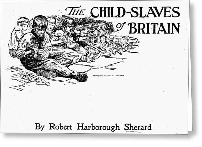 Britain Child Labor, 1905 Greeting Card by Granger