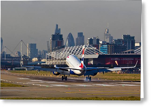 Traffic Control Greeting Cards - British Airways London Greeting Card by David Pyatt