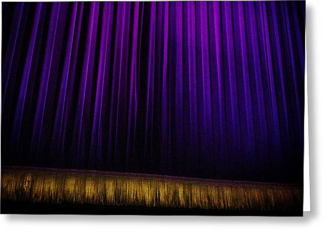Curtain Digital Art Greeting Cards - Broadway Greeting Card by Natasha Marco
