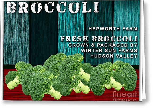 Best Sellers -  - Broccoli Greeting Cards - Broccoli Farm Greeting Card by Marvin Blaine