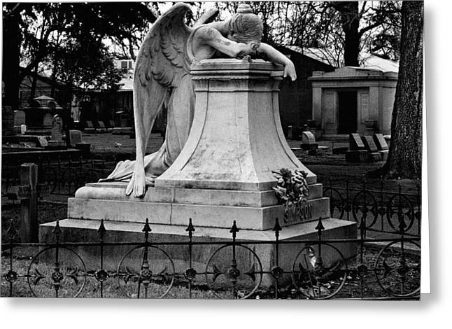 Headstones Greeting Cards - Broken Angel  Greeting Card by Peter Piatt