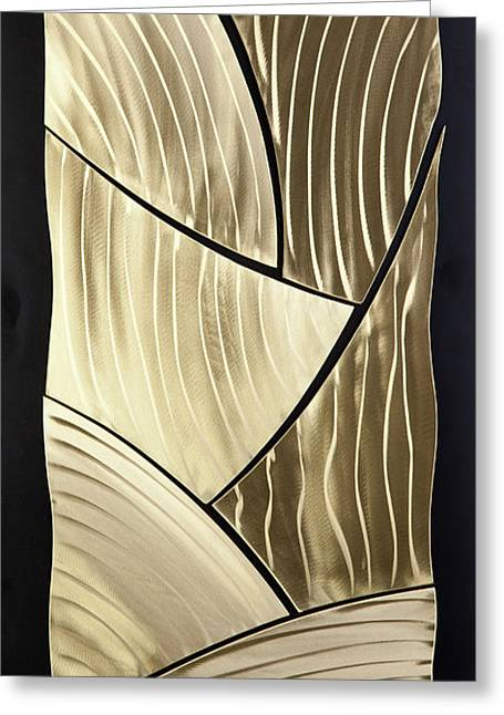 Aluminum Sculptures Greeting Cards - Broken Gold Greeting Card by Rick Roth