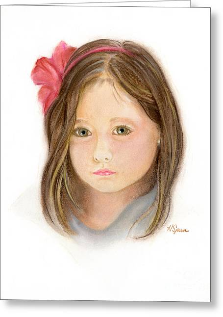 Adult Pastels Greeting Cards - Brooke Greeting Card by Harry Speese