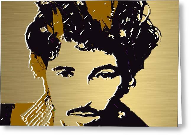 Bruce Springsteen Art Prints Greeting Cards - Bruce Springsteen Gold Series Greeting Card by Marvin Blaine