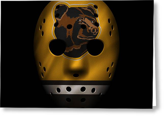 Boston Iphone Cases Greeting Cards - Bruins Jersey Mask Greeting Card by Joe Hamilton
