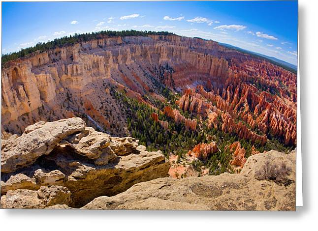 Colorful Cloud Formations Greeting Cards - Bryce Canyon Greeting Card by Alexey Stiop