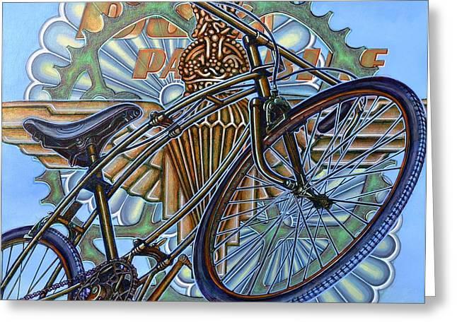 BSA Parabike Greeting Card by Mark Howard Jones