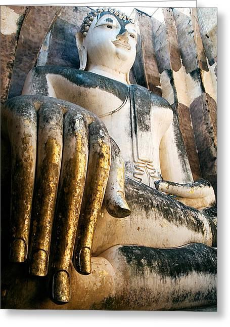 Legs Crossed Greeting Cards - Buddha Monument Greeting Card by Artur Bogacki