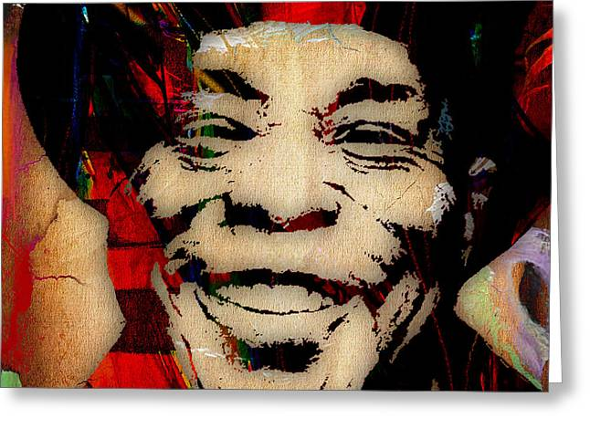 Guitar Player Mixed Media Greeting Cards - Buddy Guy Collection Greeting Card by Marvin Blaine