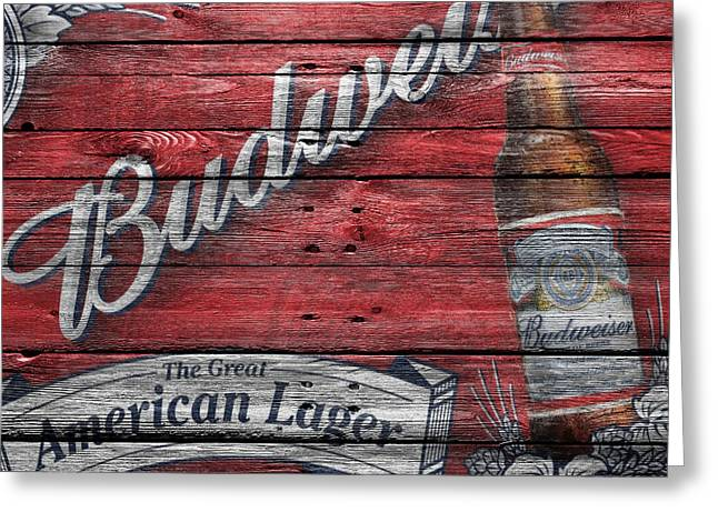 Budweiser Greeting Card by Joe Hamilton