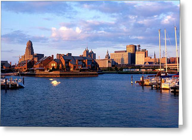 Yacht Basin Greeting Cards - Buffalo Ny Greeting Card by Panoramic Images