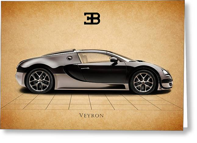 Bugatti Greeting Cards - Bugatti Veyron Greeting Card by Mark Rogan