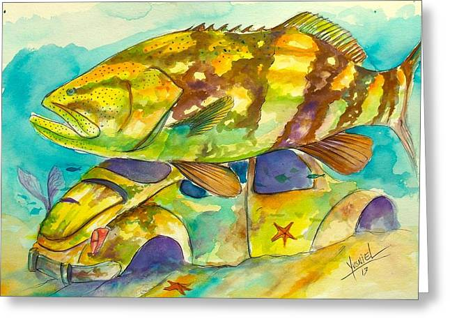 Grouper Greeting Cards - 2 Buggies  Greeting Card by Yusniel Santos