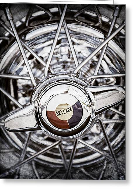 Buick Greeting Cards - Buick Skylark Wheel Greeting Card by Jill Reger