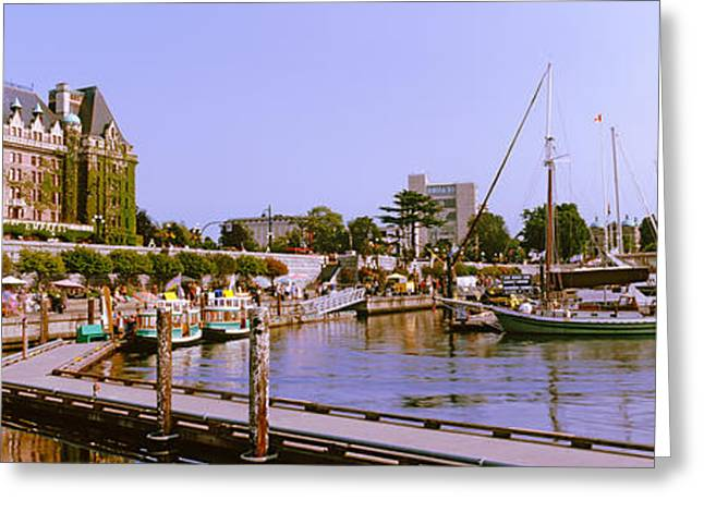 Vancouver Greeting Cards - Buildings At The Waterfront, Empress Greeting Card by Panoramic Images