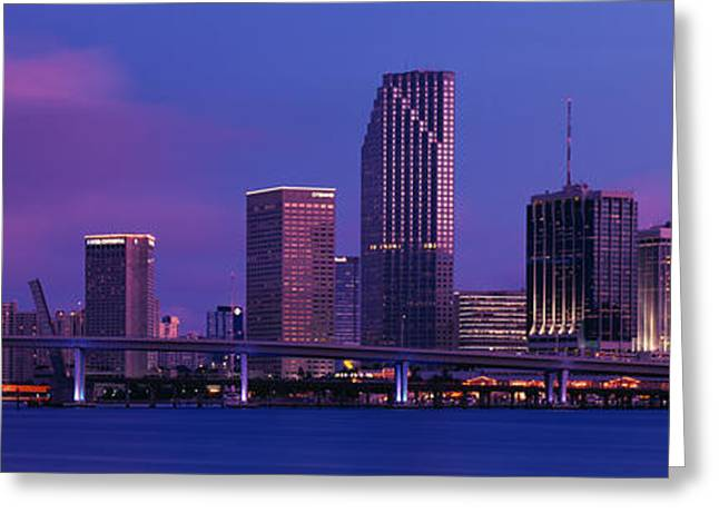 Buildings At The Waterfront, Miami Greeting Card by Panoramic Images