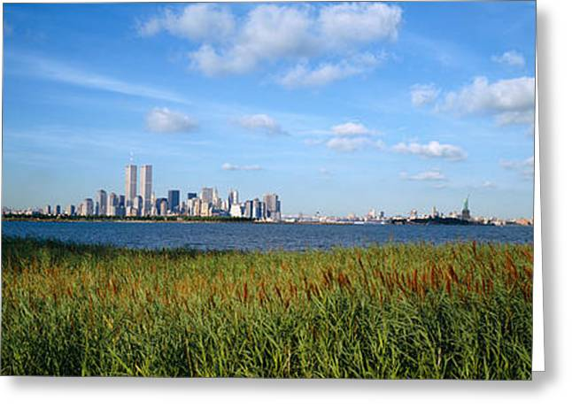 Nature Center Greeting Cards - Buildings At The Waterfront, New Greeting Card by Panoramic Images