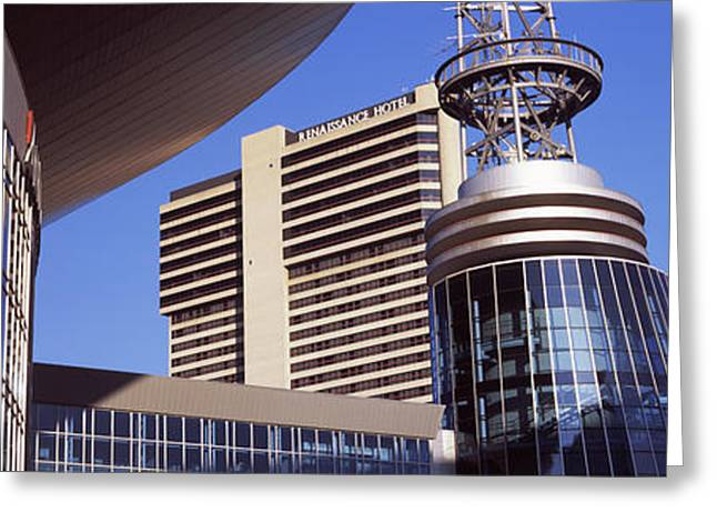 Buildings In A City, Bridgestone Arena Greeting Card by Panoramic Images