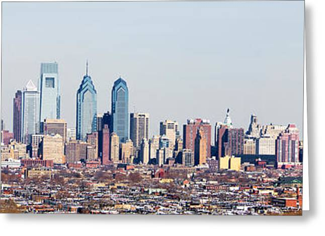 Buildings In A City, Comcast Center Greeting Card by Panoramic Images