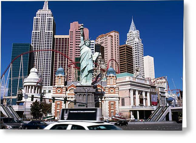 Female Likeness Greeting Cards - Buildings In A City, New York New York Greeting Card by Panoramic Images