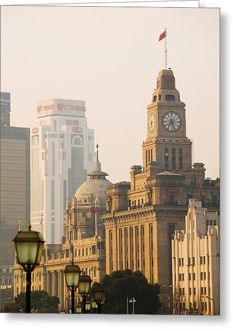 Bund Greeting Cards - Buildings In A City, The Bund Greeting Card by Panoramic Images