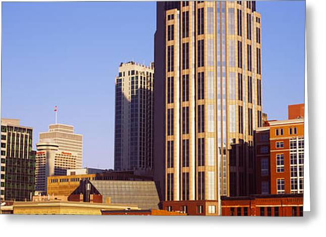 Nashville Greeting Cards - Buildings In A Downtown District Greeting Card by Panoramic Images